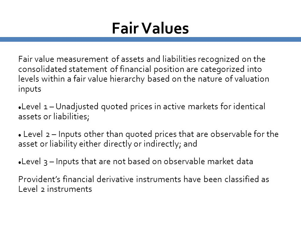 Fair Values