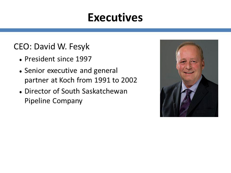 Executives CEO: David W. Fesyk President since 1997