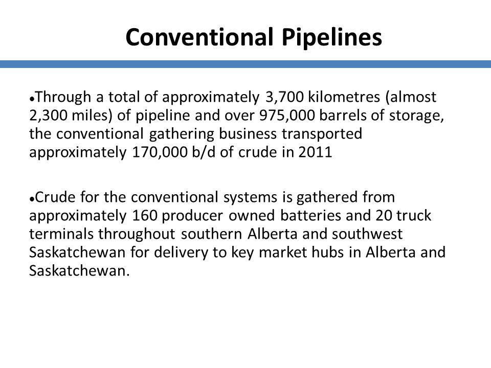 Conventional Pipelines