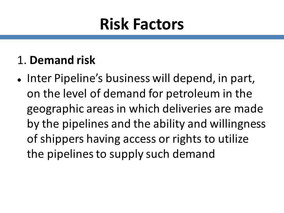 Risk Factors 1. Demand risk