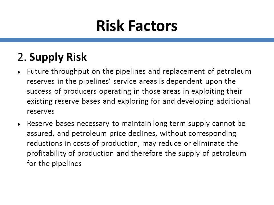 Risk Factors 2. Supply Risk