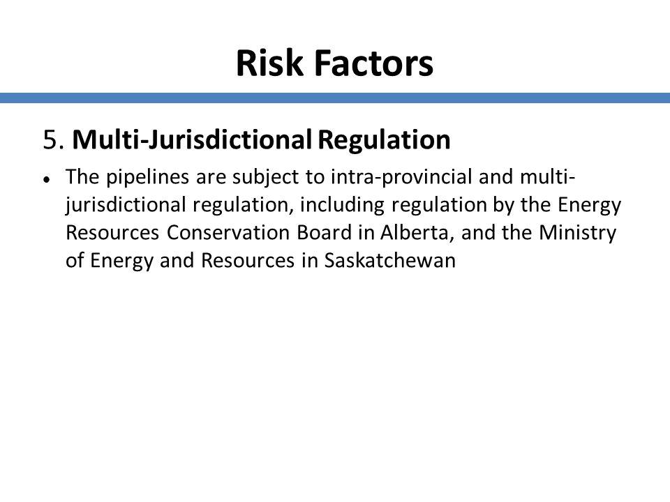 Risk Factors 5. Multi-Jurisdictional Regulation