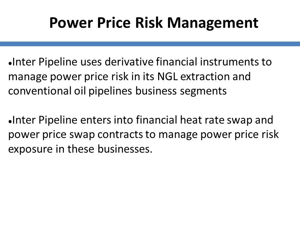 Power Price Risk Management
