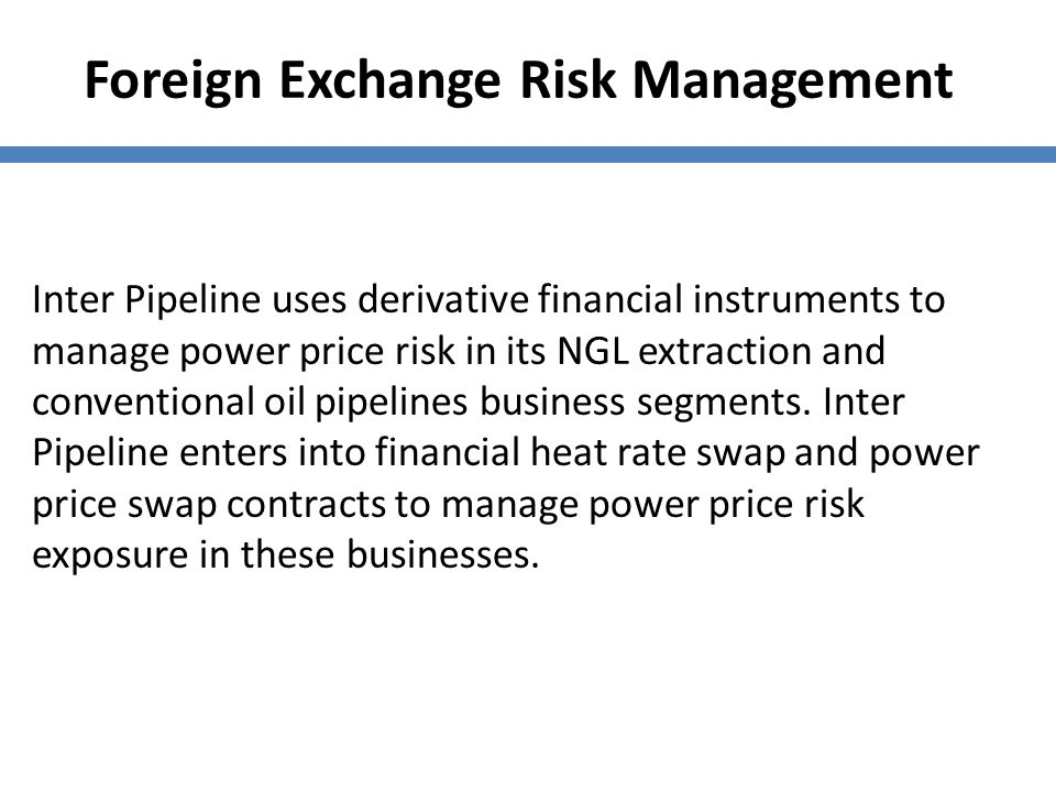 Foreign Exchange Risk Management