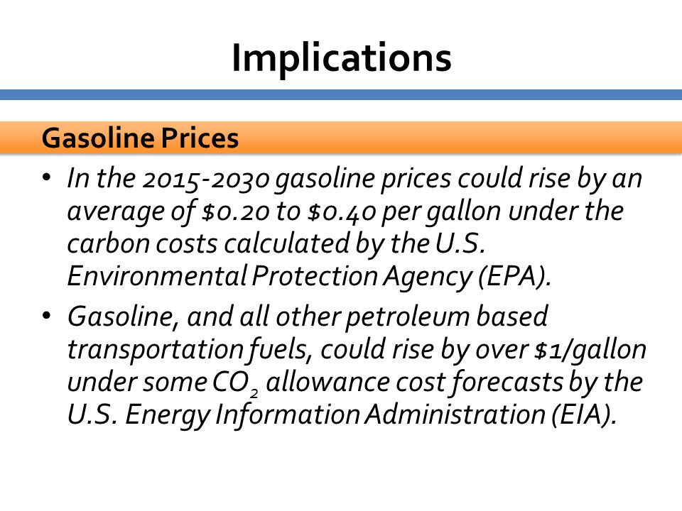 Implications Gasoline Prices