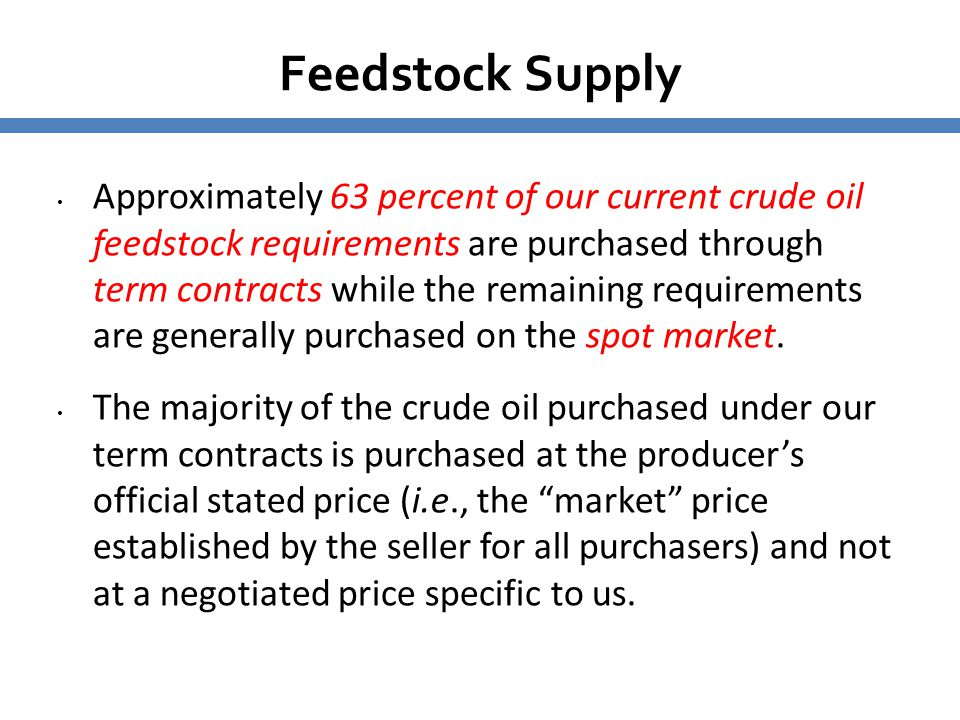 5656 Feedstock Supply.