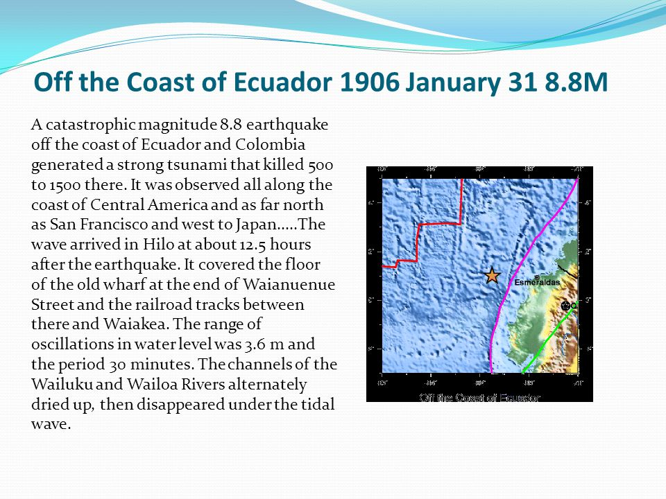 Off the Coast of Ecuador 1906 January 31 8.8M