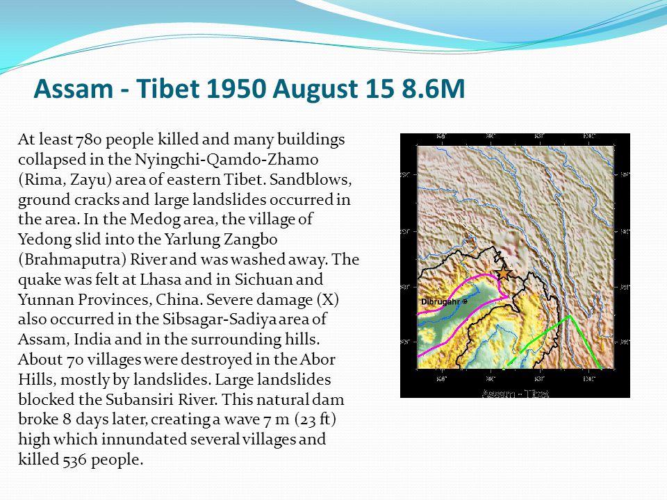 Assam - Tibet 1950 August 15 8.6M