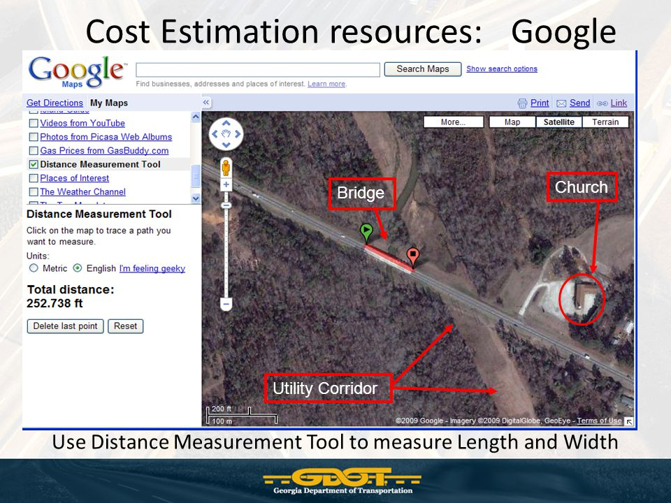 Cost Estimation resources: Google