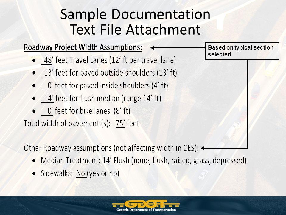 Sample Documentation Text File Attachment