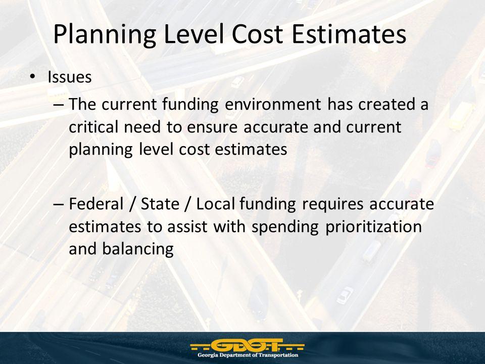 Planning Level Cost Estimates