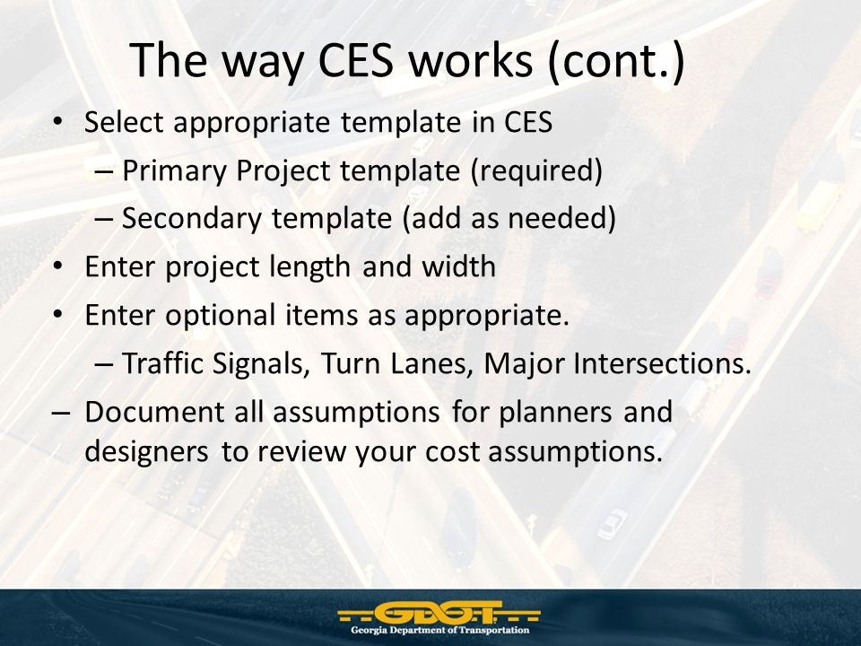 The way CES works (cont.)