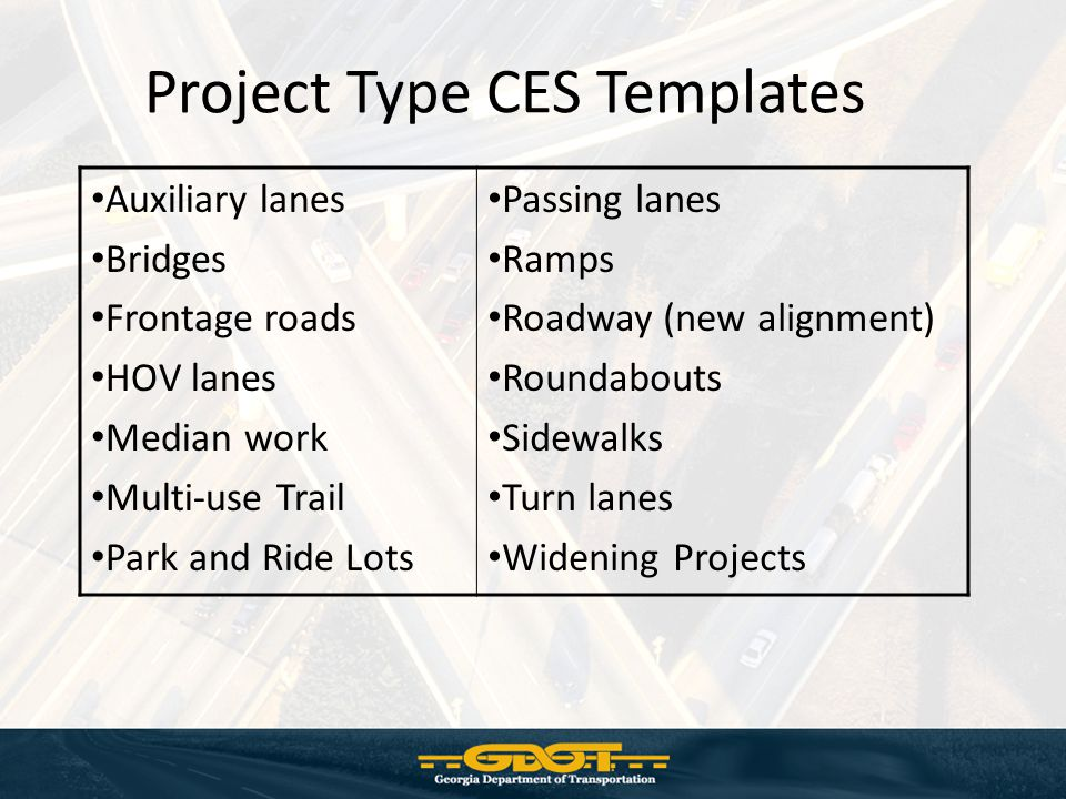 Project Type CES Templates