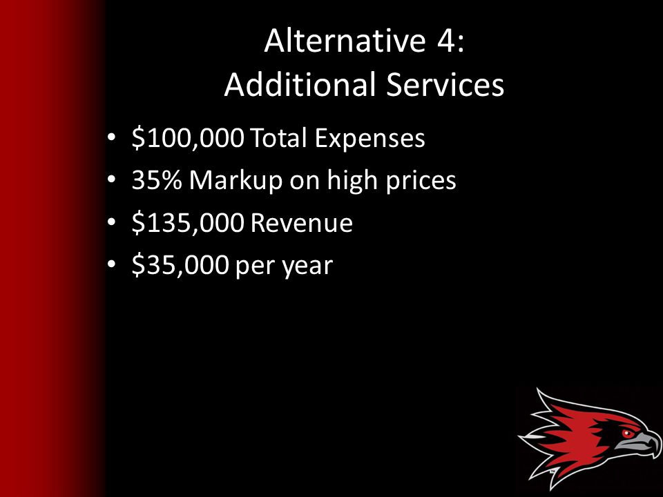 Alternative 4: Additional Services
