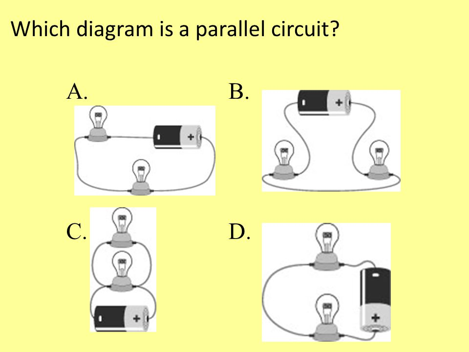 Which diagram is a parallel circuit