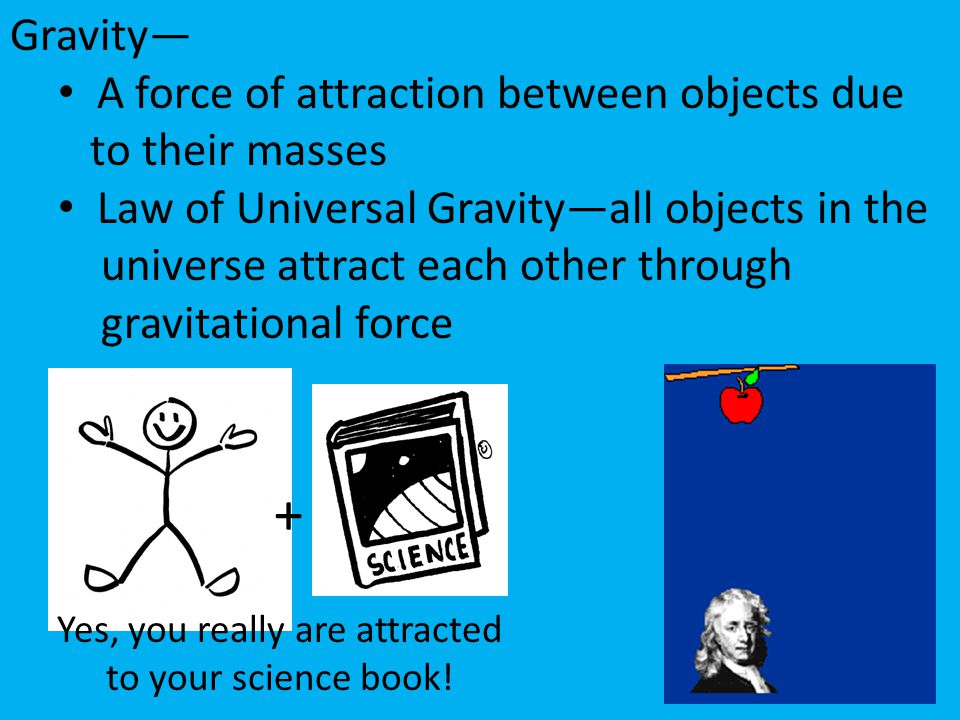 Yes, you really are attracted to your science book!