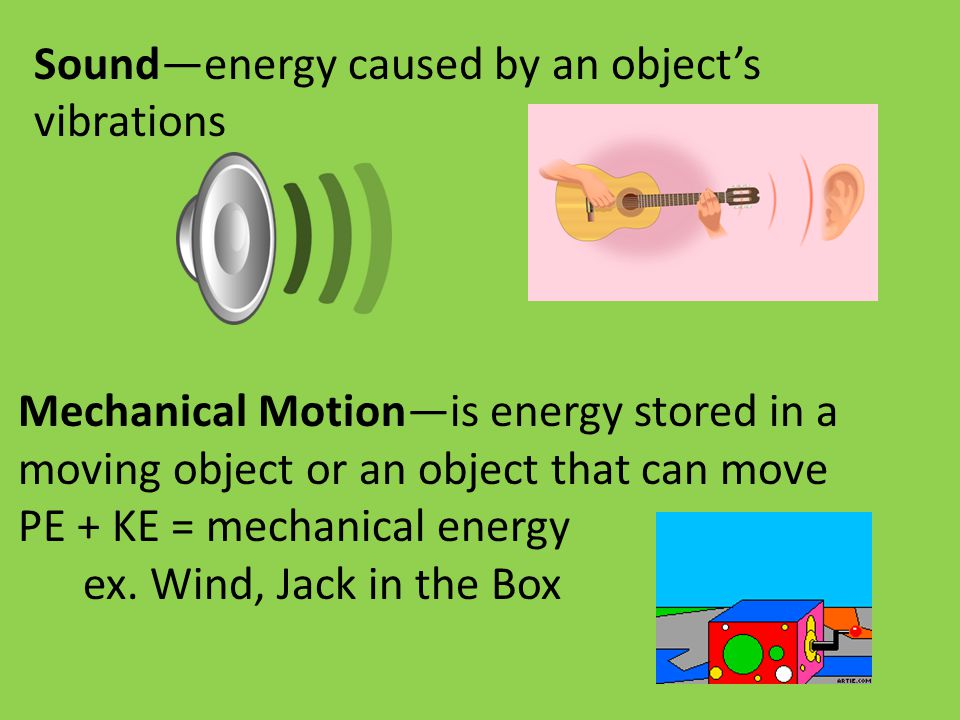 Sound—energy caused by an object's vibrations