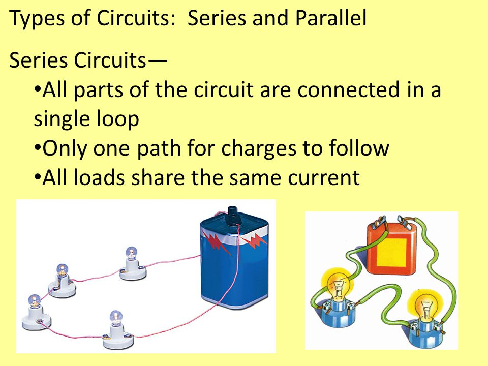 Types of Circuits: Series and Parallel