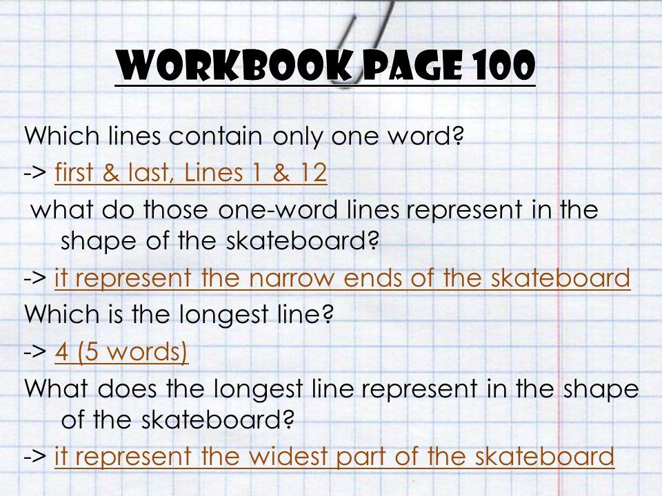 Workbook page 100