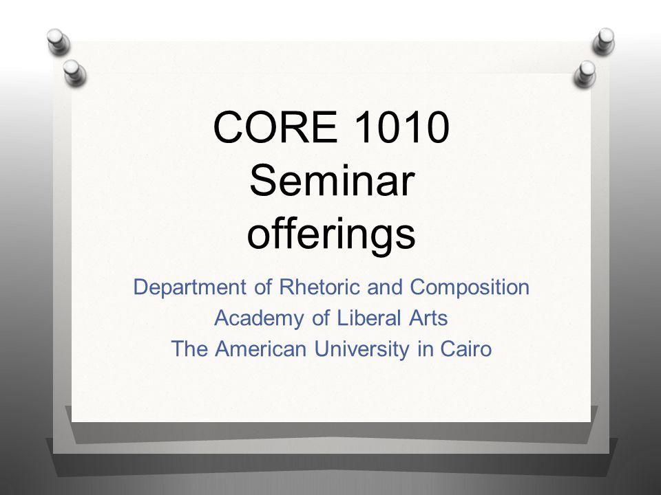 CORE 1010 Seminar offerings