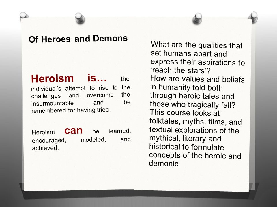 Of Heroes and Demons