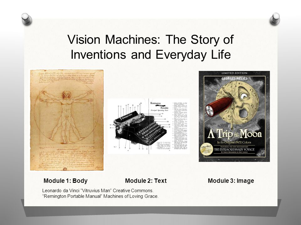 Vision Machines: The Story of Inventions and Everyday Life