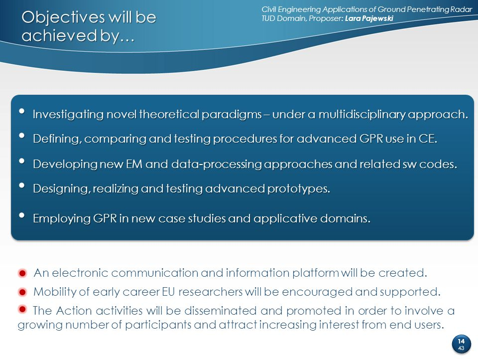 Objectives will be achieved by…