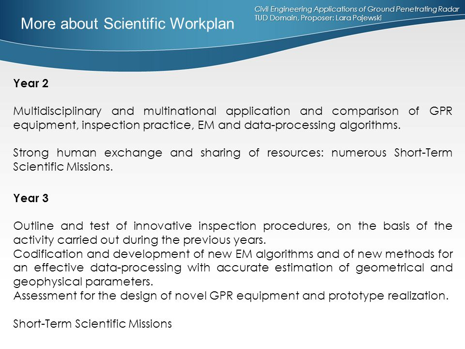 More about Scientific Workplan