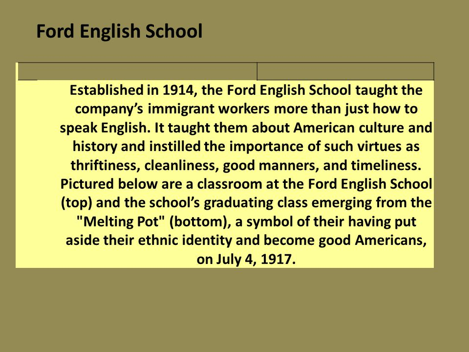 Ford English School