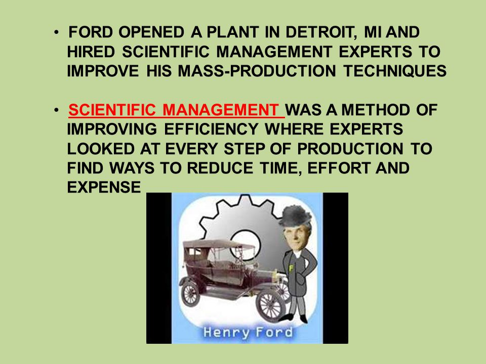 FORD OPENED A PLANT IN DETROIT, MI AND