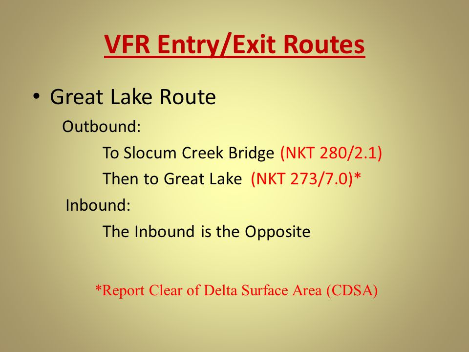 *Report Clear of Delta Surface Area (CDSA)