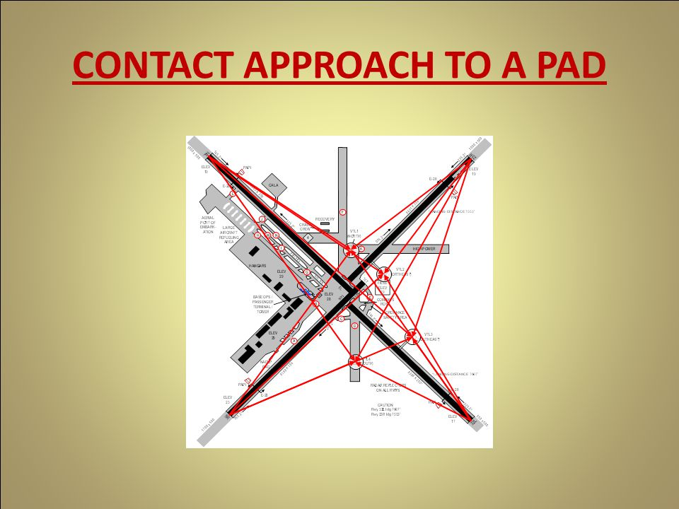 CONTACT APPROACH TO A PAD