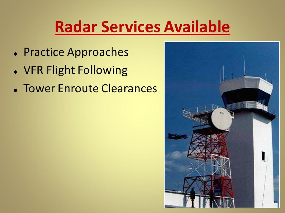 Radar Services Available