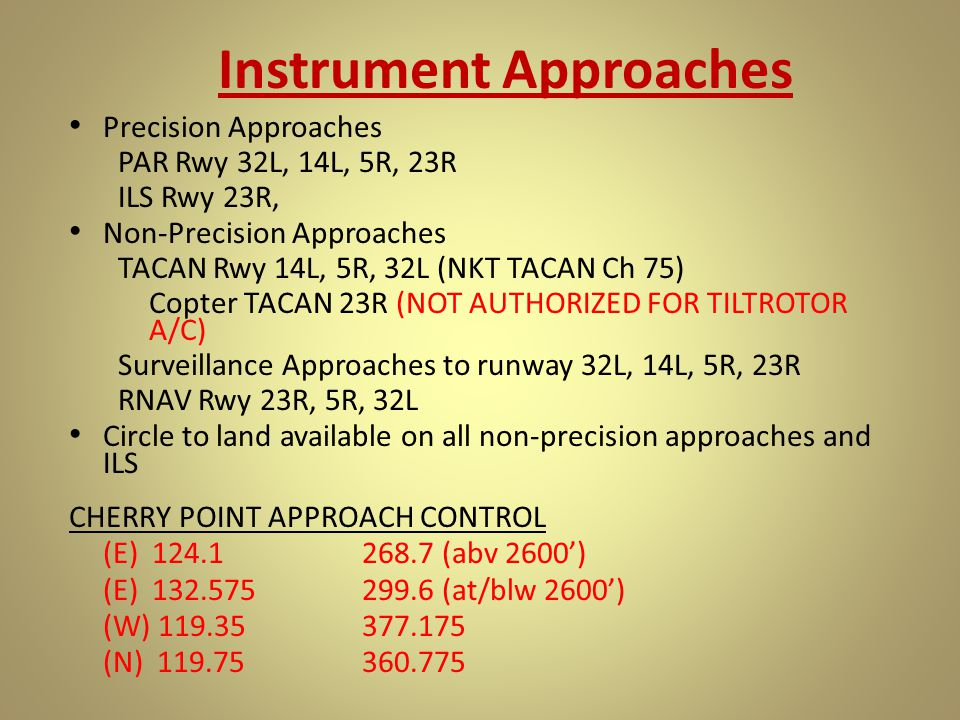 Instrument Approaches