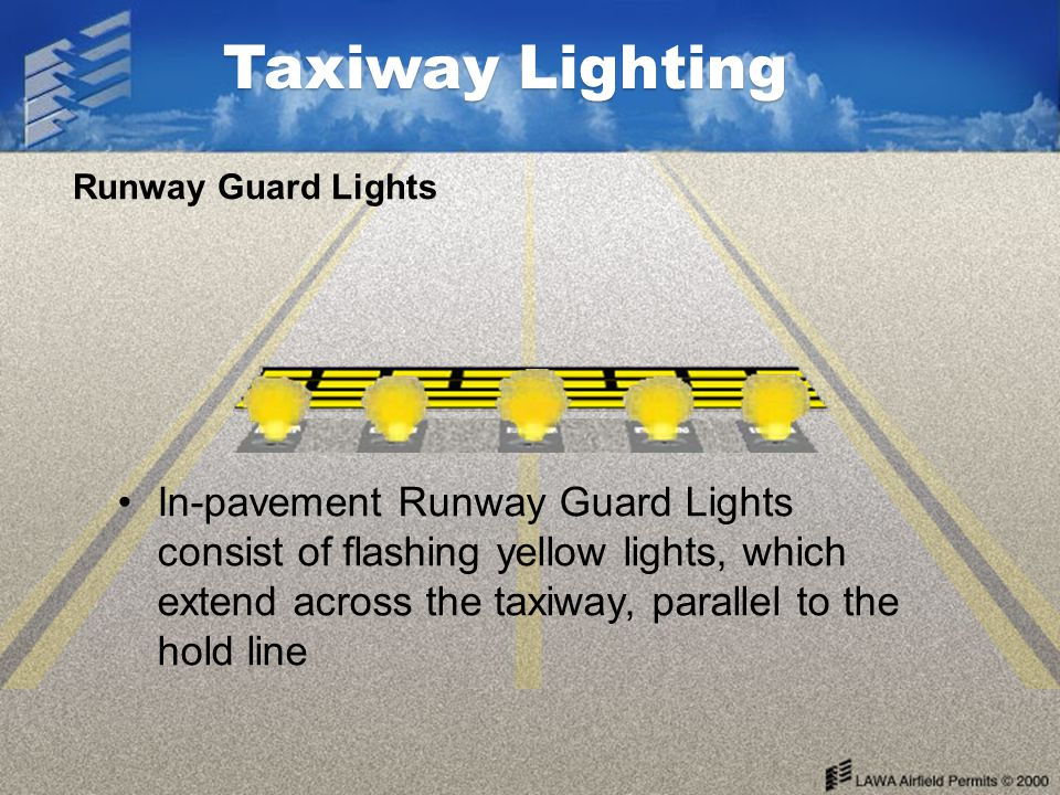 Taxiway Lighting Runway Guard Lights.