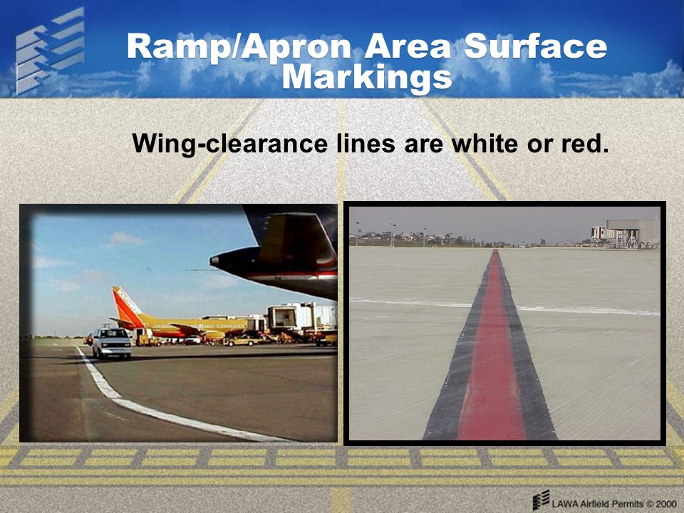 Ramp/Apron Area Surface Markings