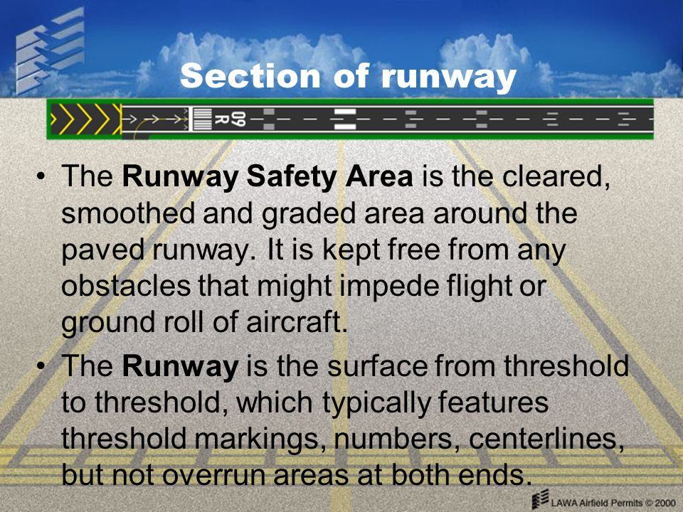 Section of runway