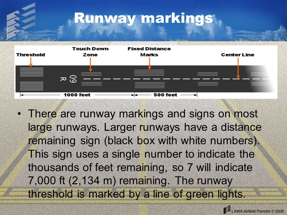 Runway markings