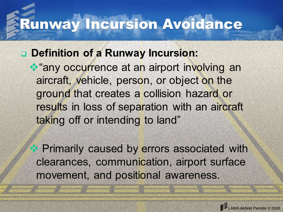 Runway Incursion Avoidance