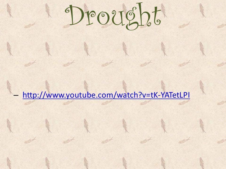 Drought http://www.youtube.com/watch v=tK-YATetLPI