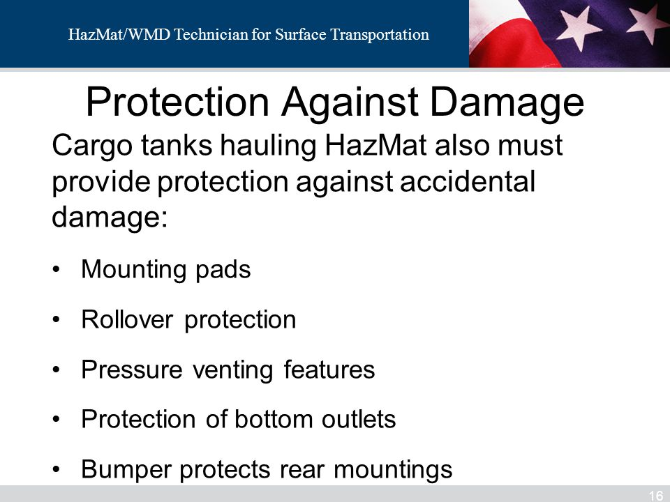Protection Against Damage