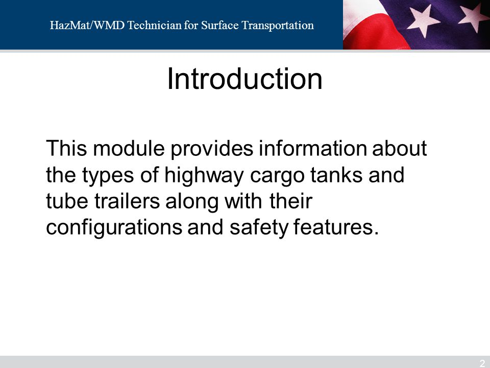 HazMat/WMD Introduction.