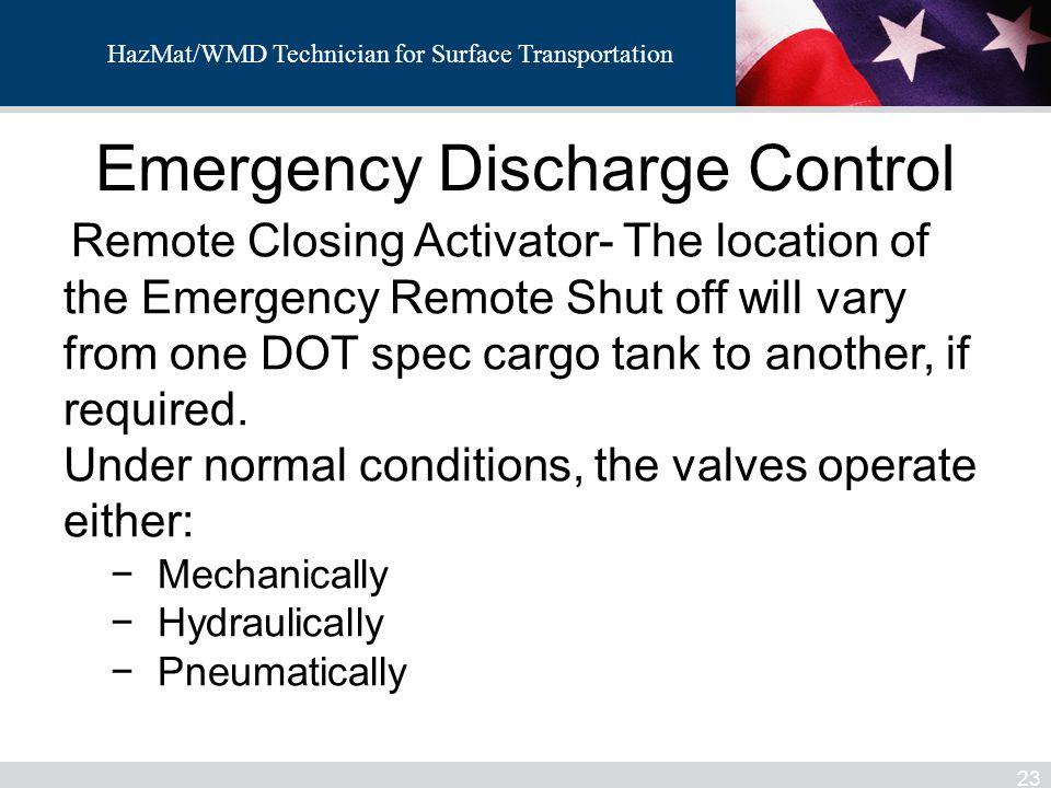 Emergency Discharge Control