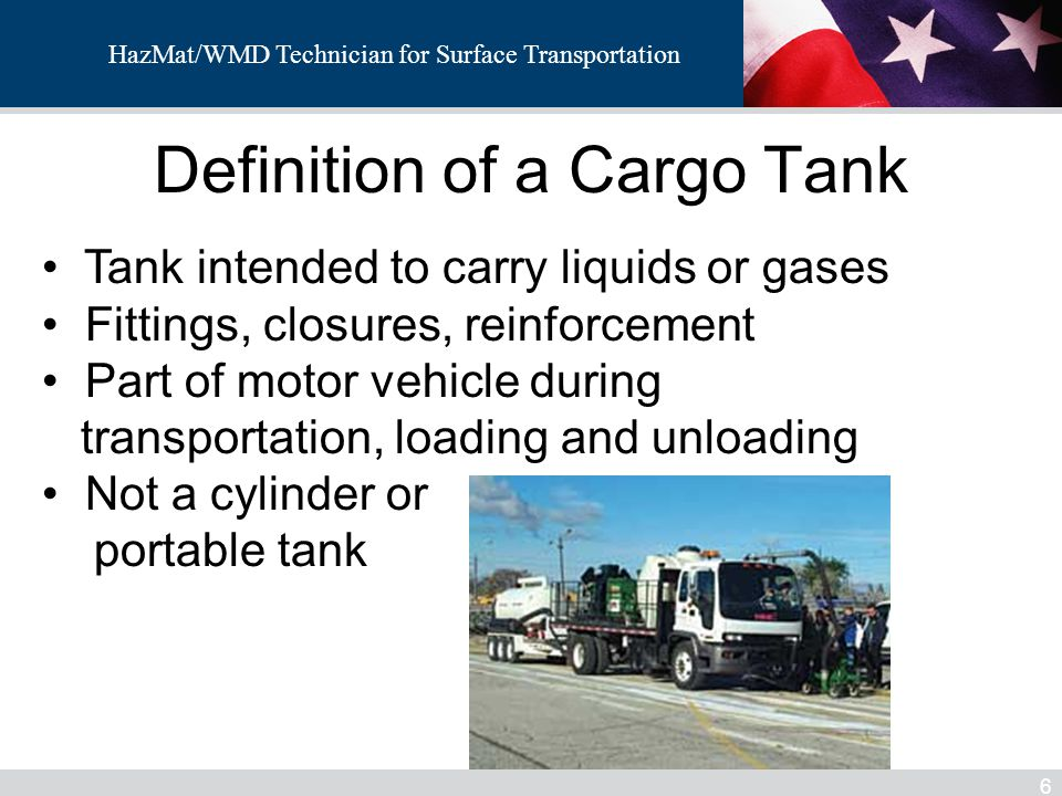 Definition of a Cargo Tank