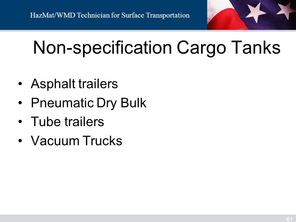 Non-specification Cargo Tanks