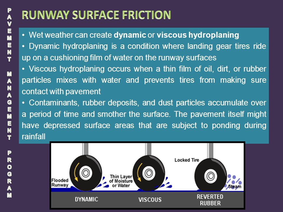 PAVEMENT MANAGEMENT PROGRAM RUNWAY SURFACE FRICTION