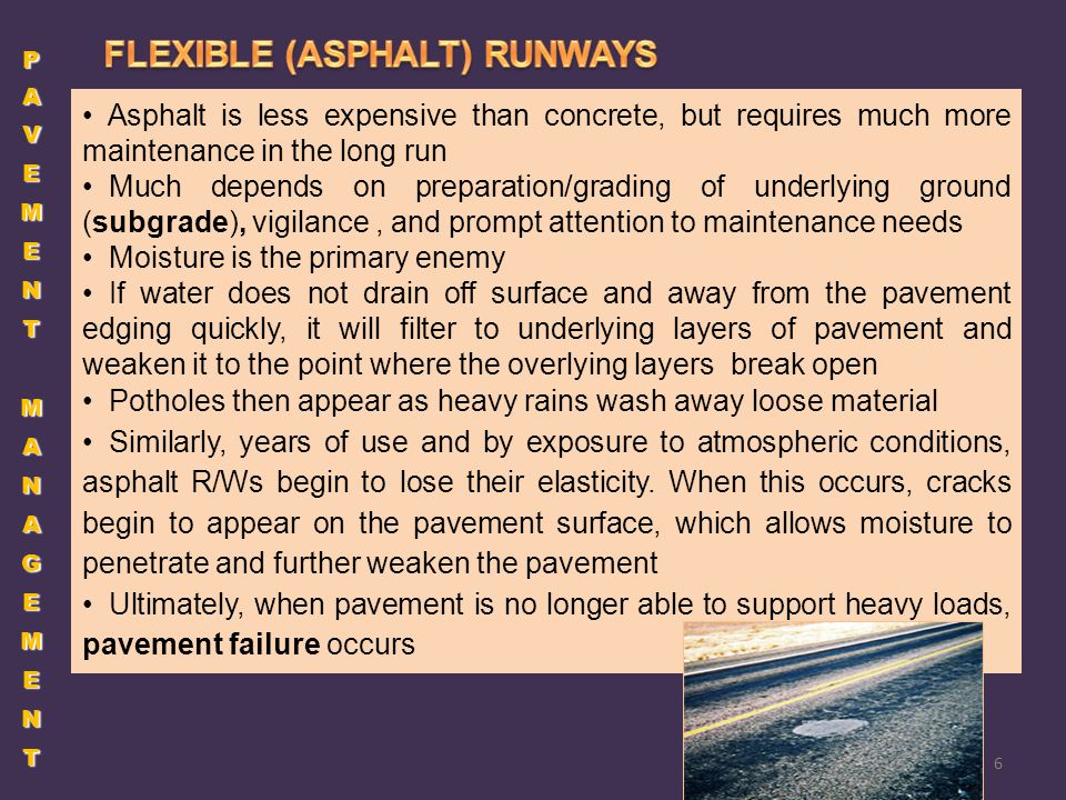 FLEXIBLE (ASPHALT) RUNWAYS