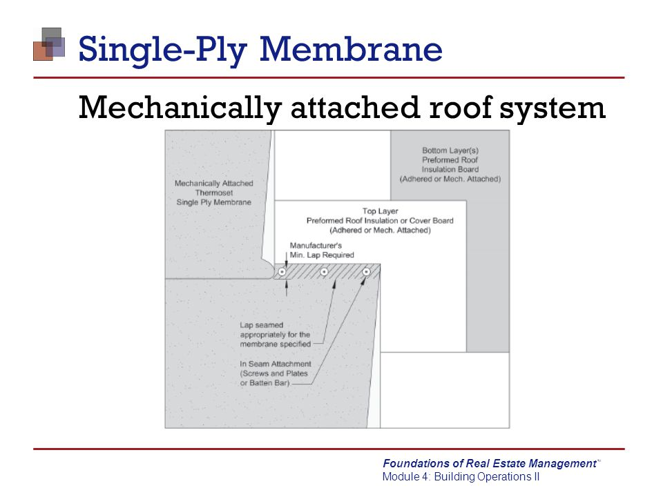 Mechanically attached roof system