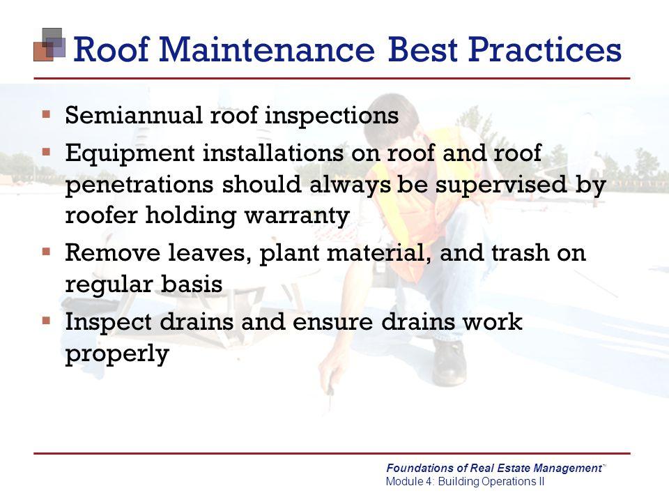 Roof Maintenance Best Practices