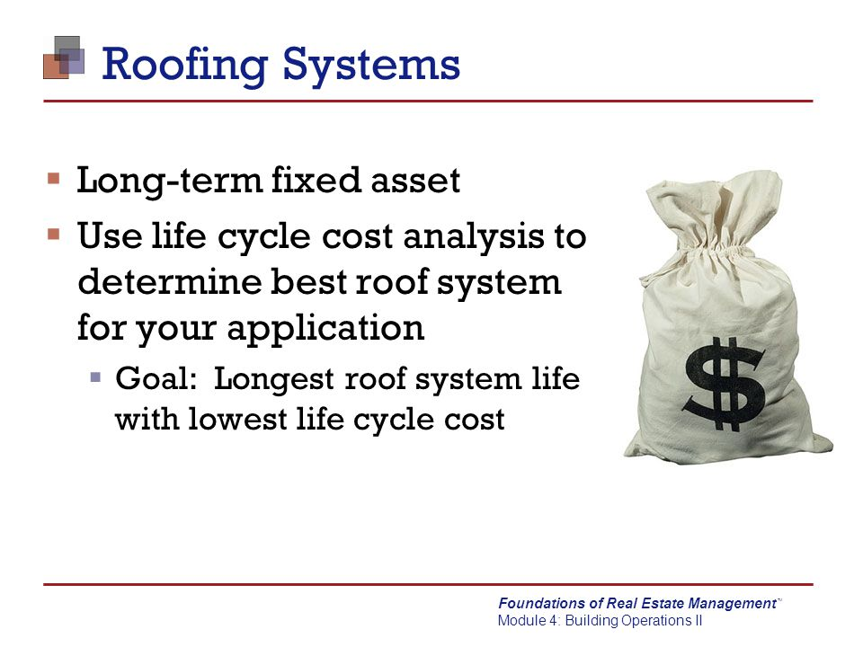 Roofing Systems Long-term fixed asset